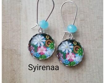 Long earrings Flower Earrings