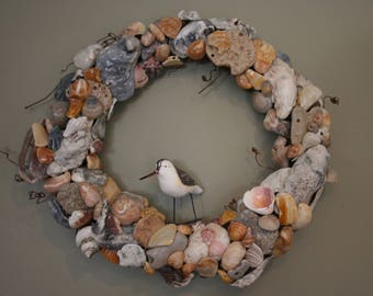 Broken Homes:  Wreath Made From Treasures of the Sea Gathered In Fort Pierce, Florida