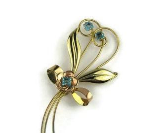 Harry Iskin Flower Brooch