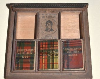 Mite Series in Tartan Bryce David n Son Miniature Book Set Incomplete w Original Case