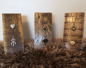 Wood Necklace Display, Rustic Necklace Display, Jewellery Stand, Reclaimed Necklace Display Stand, Craft Fair Jewellery Display, Handmade