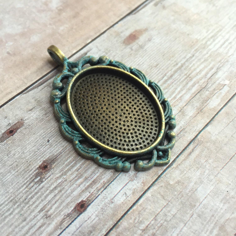 Handgemalte faux patiniert Vintage-Stil Antik Bronze Ton Kamee ...