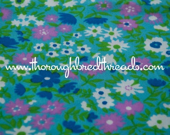 Mod Garden - New Old Stock  Vintage Fabric 60s 70s Fun Wildflowers
