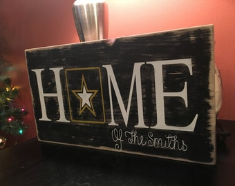 Army home sign, military sign, home sign, military decor