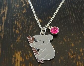 Koala Necklace, Koala Charm, Koala Pendant, Koala Jewelry, Koala Bear Jewelry, Koala Bear Necklace, Australia Necklace, Koala Baby, Animal