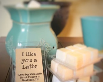 Coffee Wax Melts // I like you a Latte // Cinnamon Vanilla Latte // Soy Wax // Coffee Lover // Gift Idea // House Warming // Gift for Her