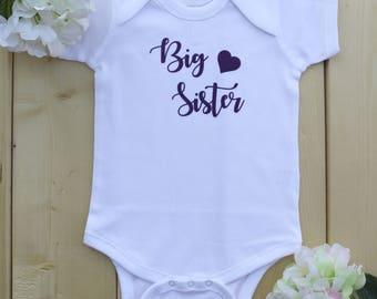 Big Sister Onesies, Pregnancy Announcement Onesies, Custom Onesies, Custom Name Onesies, Big Sister Bodysuits, Big Sister Shirts