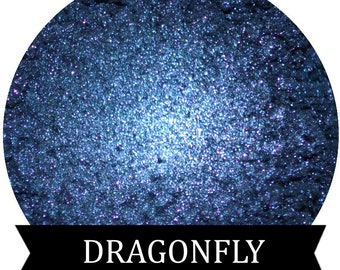 Dark  Blue Mineral Eyeshadow Pigment  DRAGONFLY