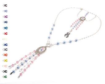 Patience - Breast Cancer Survivor - Fringe Necklace - Cancer Survivor - With Swarovski Elements