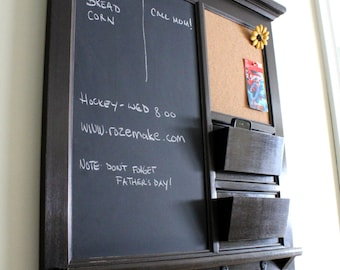 Wall Shelf Bulletin Board Cork Board Kitchen Chalkboard