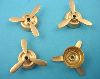 4 brass  mounted propellers 22mm aviation airplane stampings