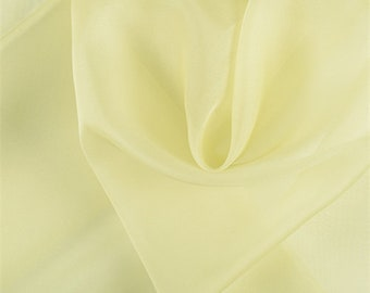 Peridot Silk Organza, Fabric By The Yard