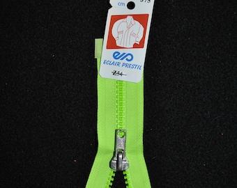 Neon Green Z54 375 mesh zipper 50cm separable plastic molded