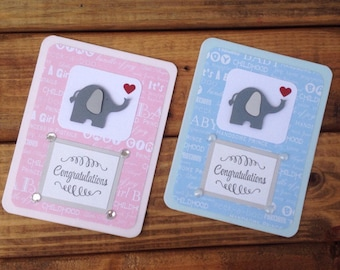 Baby Card - Baby Boy Cards, Baby Girl Cards, Expecting Baby Cards, Welcome Baby Cards, Handmade Greeting Cards, Baby Shower Greeting Cards