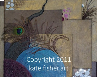 """Limited Edition Fine Art Painting Prints - """"Organic Nothingness Self Portrait"""""""