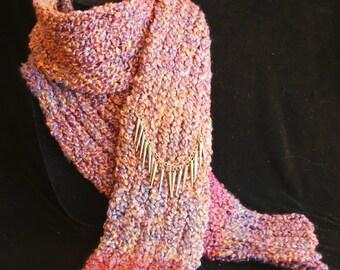 Fireside Embers Hand Knit Scarf
