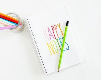 Handmade Happy Note Spiral Notebook