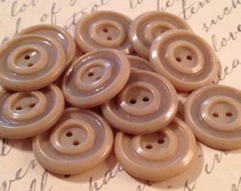 VINTAGE NEUTRAL 22mm Buttons; Jewelry-Sewing Supplies, Earrings Buttons, Unique Buttons, Artistic Colors, Classic Buttons, Antique Buttons