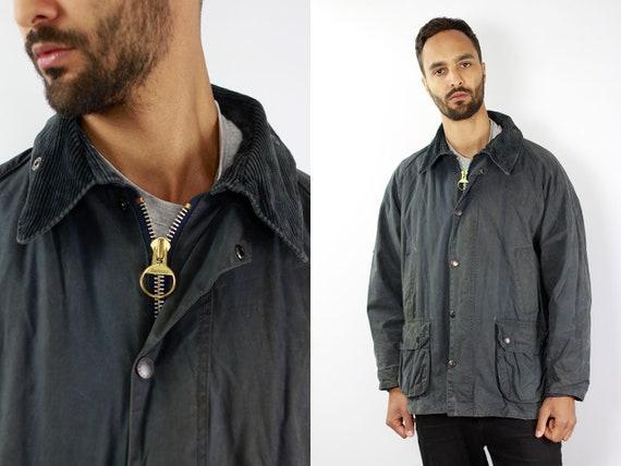 BARBOUR Wax Coat BEDALE Wax Jacket Vintage Barbour Coat Parka Blue Coat BARBOUR Vintage Wax Jacket Blue Wax Coat Barbour Bedale Coat Waxed