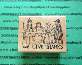 We Give Thanks - Mounted Rubber Stamp - 1 pc - #DEL-G649