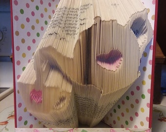 Teapot & Cup Folded Book Art