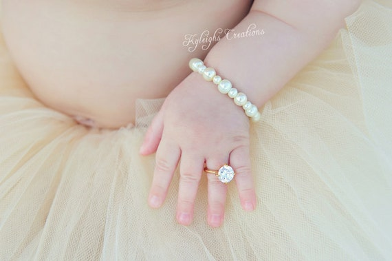 24 Month GOLD baby girl ring baby ring baby jewelry gold