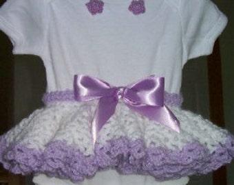 Crochet Pattern - Baby Tutu Skirt and Instructions for Onesie