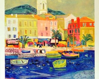 Vintage French Railways French Riviera Tourism Poster A3 Print