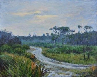 Florida Beautiful Evening, Oil Painting, Landscape Painting, Original, Canvas, Impressionism