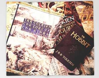 Tolkien books Throw Blanket: Hobbit, Lord of the Rings, bedding, home decor, girl's room, boy's room, library, fantasy