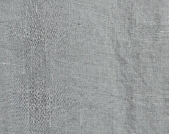 Swedish Grey Washed Linen Fabric