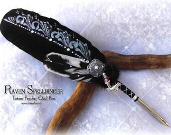 Raven SPELLBINDER Mystic Poe Feather Quill Pen