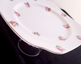 Floral Dessert Server Vintage Crockery - Rose Pink Cupcake Stand Wedding Candy Buffet Table - Homewares Crockery Jewelry Holder Bridal Gift
