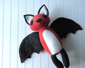 Flying Fox Plush, Bat Toy, Stuffed Bat