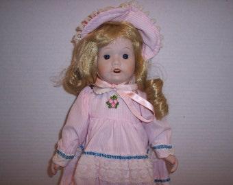 D1 Brinn's Collectible Porcelain Doll