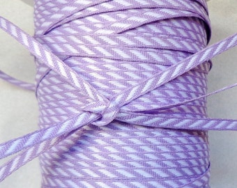 1/8 Inch Solid / Diagonal Stripes Ribbon lilac-price for 3yards