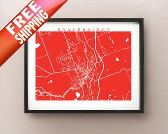 Bracebridge, ON Map Print