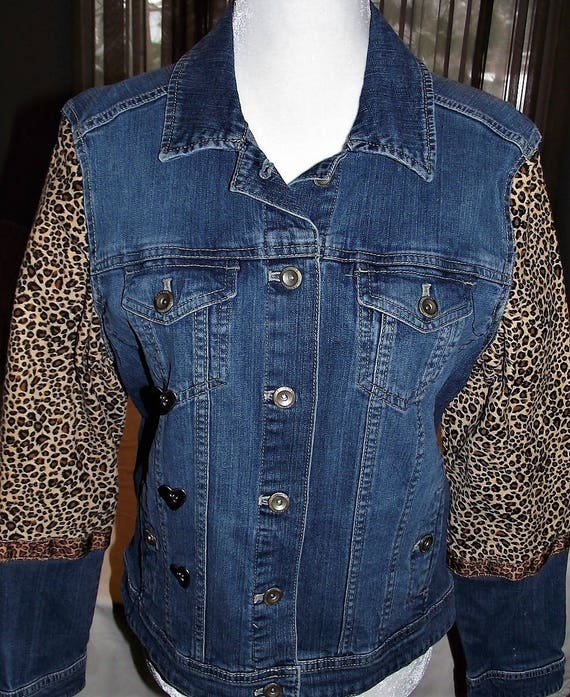 Refurbished Womens Denim Jacket-Size-Med
