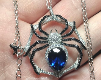 Sterling silver spider pendant and chain