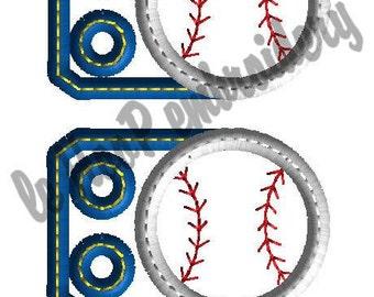 BASEBALL Softball 3 Ball Shoe Charms Machine Embroidery In-Hoop Design Monogram 4x4 5x7 6x10 Sports TAGS Personalize MLB homerun Team Wings