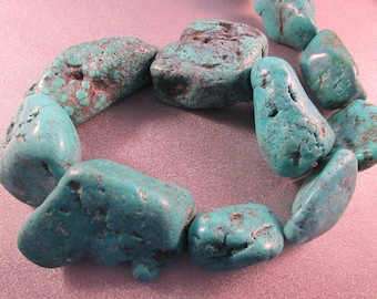 Turquoise Nuggets Beads 11pcs