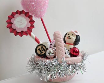Puppy Love Mini Valentine Basket