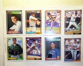 8 Topps Baseball Cards 1992-B.Santiago,Wally Whitehurst,et al
