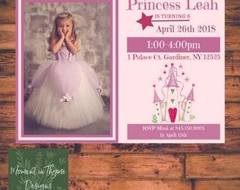 Custom Princess Digital Birthday Party Invite Printable