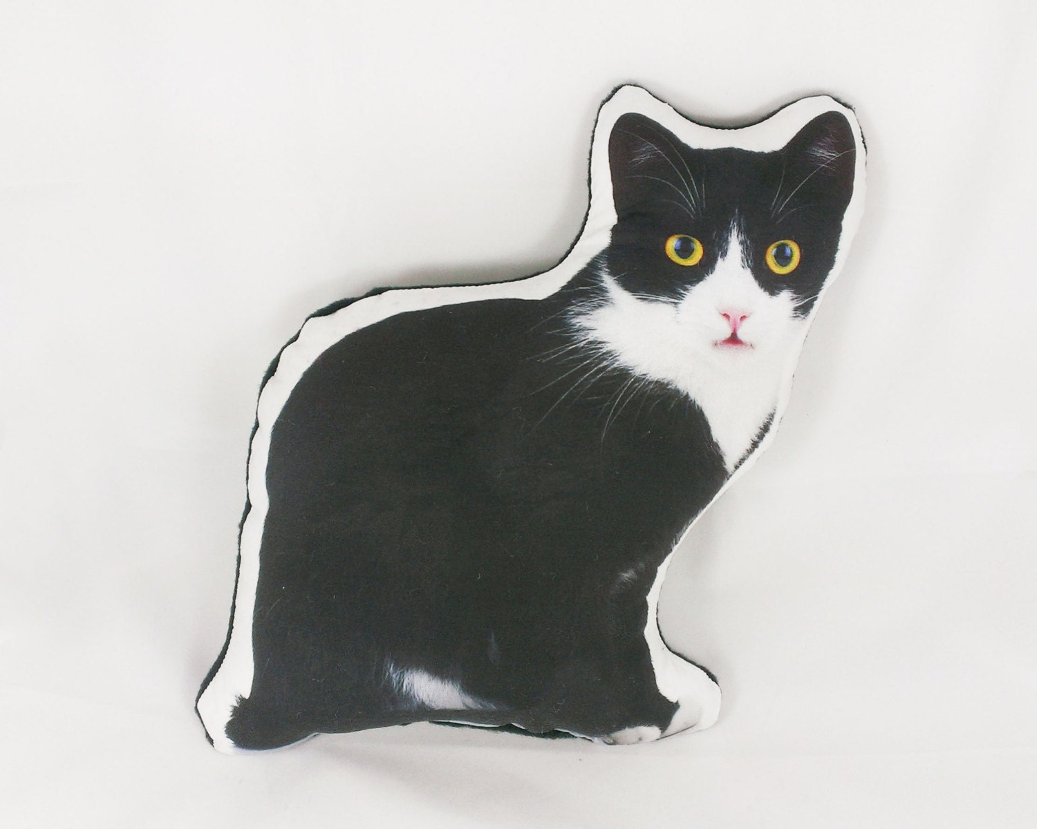 Cat Pillow plush cat gifts for women black white cat pillow