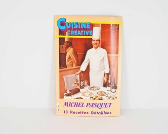 Michel Pasquet French Cookbook Creative Cuisine - autographed by the chef