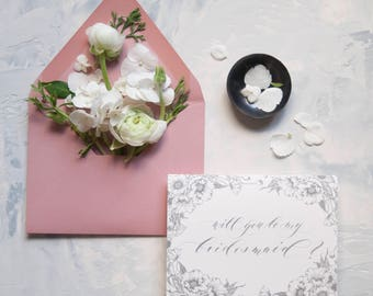 Will You Be My Bridesmaid, Maid of Honor, and Matron of Honor Cards
