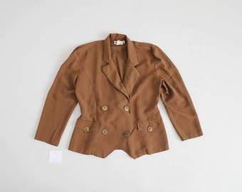 brown military jacket   double breast jacket   gold button blazer
