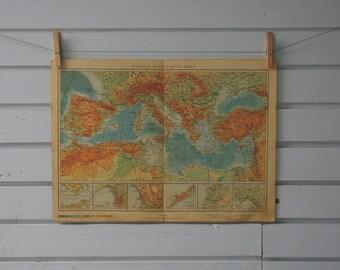 1952 Vintage Mediterranean Map
