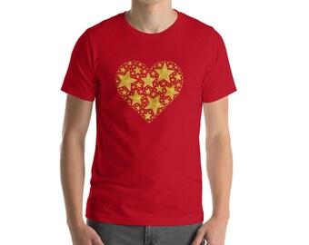 Heart of Gold(en Stars) Short-Sleeve Unisex T-Shirt by Starfire